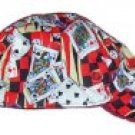 Red Gambler Welder Biker hat, your size
