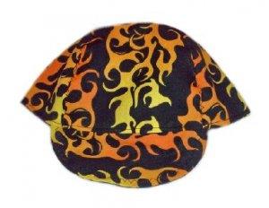 Yellow Flame Welder Biker hat, your size