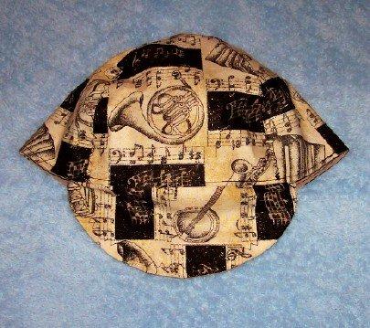 Musical Gold Dust Welder Biker hat, your size