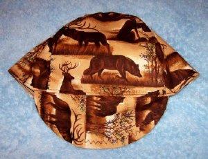 Deer Wolf & Bear Welder Biker hat, your size