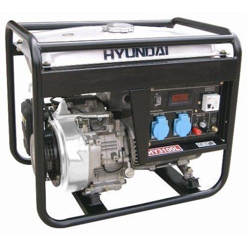 Hyundai 3,000 Watt 196cc OHV Silent Gas Powered Portable Generator #HY3100S