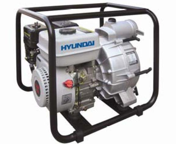 "Hyundai HYT80 196cc 3,600 RPM Gasoline Trash Pump w/ 6.5 HP, 3"" Diameter, and 1.35"" maximum solids"