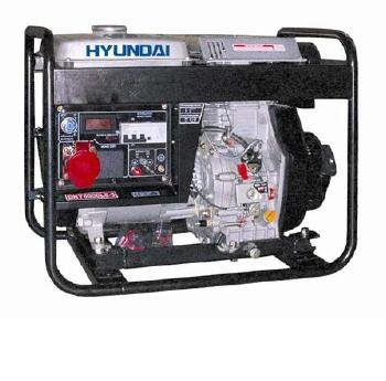 Hyundai; DHY6000LE; Diesel Open Generator; 5,000 w Cont. Output; 5,300 w Max. Output