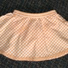 GYMBOREE Freshly Picked Orange Gingham SKORT - Size 6-12 months