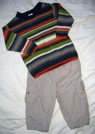 GYMBOREE Arctic Territory 2 pieces SWEATER & PANTS Set - Sz 12-18 months