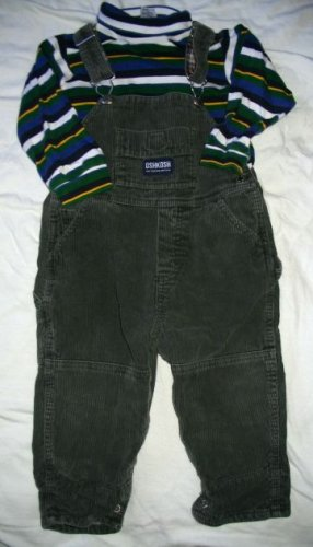 OSHKOSH 2 pieces OVERALLS & TOP Set - Size 18 months