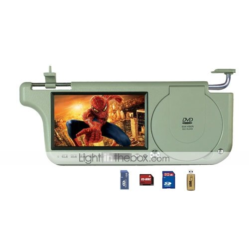 7-inch Car Sunvisor Monitor with DVD Player (Built-in FM / USB Port and SD Car Slot) 2710 (SZC350)