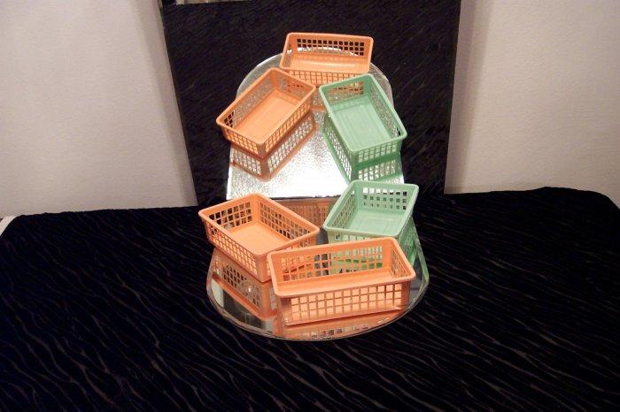 3 Plastic Baskets *