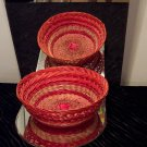 VINTAGE Red Basket *