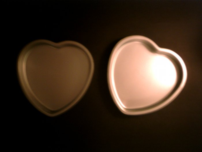 2 Hearts Cake Pans *
