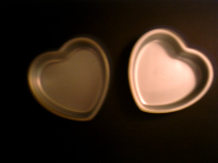 2 Small Heart Cake Pans -- by Wilton -- 502-3053 *