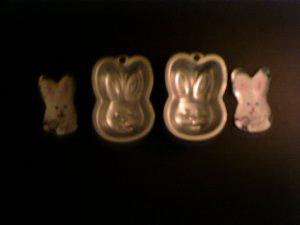 1 - Single Bunny Rabbits Cake Pan -- by Wilton -- 2105-1142 -- 1996 *