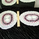 Set of Two Large Doilies *