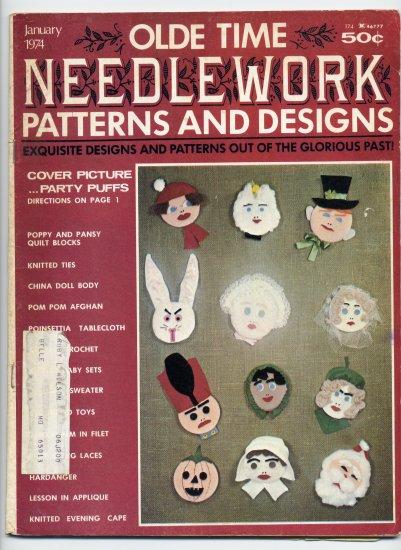 Olde Time Needlework Magazine January 1974 *