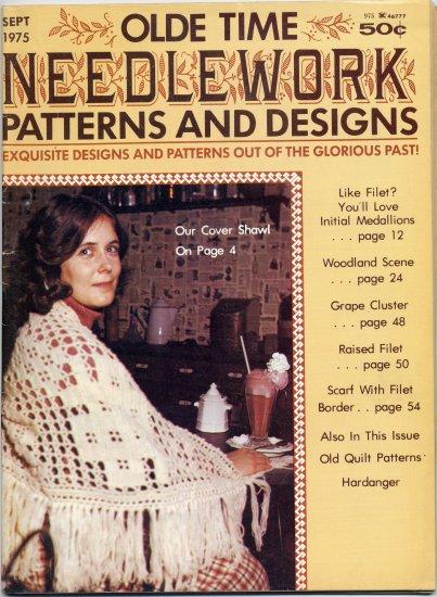 Olde Time Needlework Magazine September 1975 *