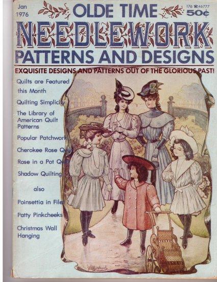 Olde Time Needlework Magazine January 1976 *