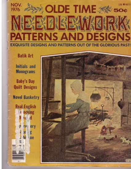 Olde Time Needlework Magazine November 1976 *