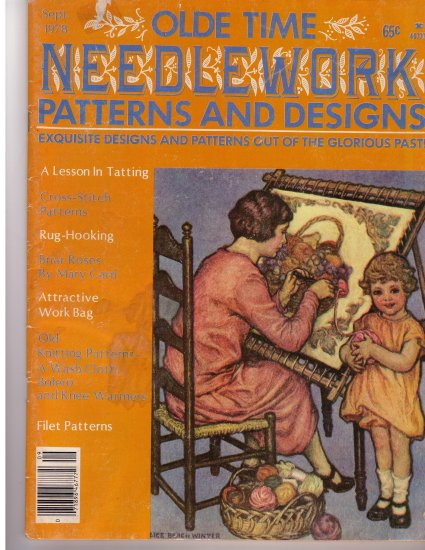 Olde Time Needlework Magazine September 1978 *