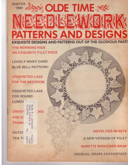 Olde Time Needlework Magazine Winter 1980 *