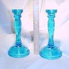 Tiara Glassware -- Bicentennial Candlesticks