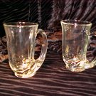 Tiara Glassware -- Clear Hunter Horn Mugs set of 2