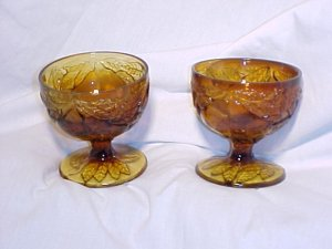 Tiara Glassware -- Sweet Pear Set of 2 Sherbert Dishes