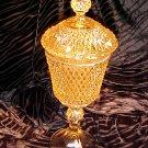 Tiara Glassware -- Cameo Amber Chalice