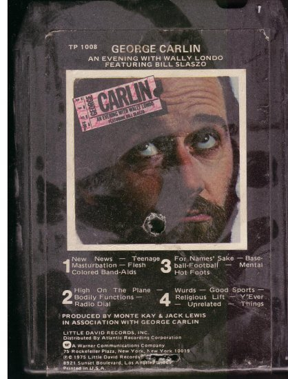 8 - Track -- GEORGE CARLIN -- An Evening with Wally Londo