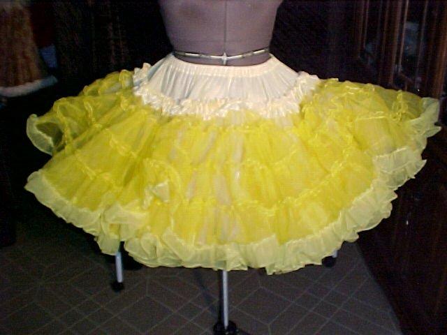 Square Dance -- Bright Yellow Petticoat -- very full -- Raver; Punk; and Harijuku *