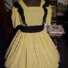 Yellow with Black Ruffle Square Dance Dress *