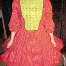 Red and Green Christmas Square Dance Dress *