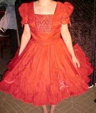 Red Special Events Square Dance Dress *