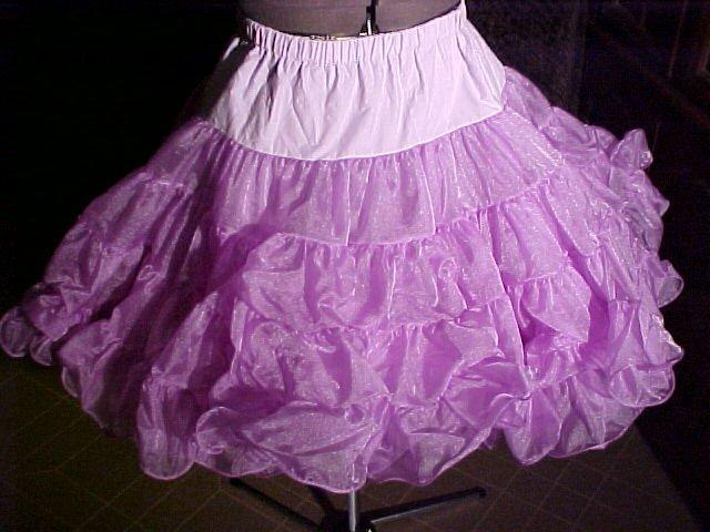 Square Dance Purple Petticoat -- very full -- Raver; Punk; and Harijuku *