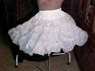 Square Dance -- White Best Petticoat -- very full -- Raver; Punk; and Harijuku *