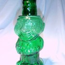 Tiara Glassware -- Teal Green Jolly Mountaineer Decanter