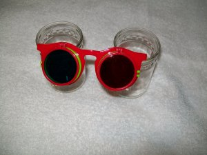 FireWorks Glasses -- Red Frame with pink temples  -- Childrens Multiple 3-D Glasses *