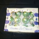 11 Green Ornaments with Netting Mesh