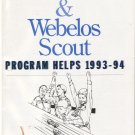 Cub Scout and Webelos Scout Program Helps -- 1993 - 1994 *