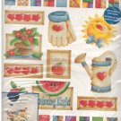 Plaid Iron-On Transfer -- Patchwork Garden