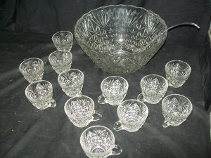 Anchor Hocking Punch Bowl Set