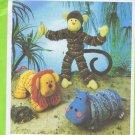 9157 Simplicity -- Monkey, Lion, Hippo -- Stuffed Yo-Yo's *
