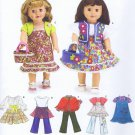 "3936 Simplicity -- 18"" Doll Clothes *"