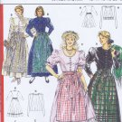 5259 Burda -- long dress with apron *
