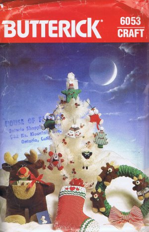 6053 Butterick -- Christmas Decorations *