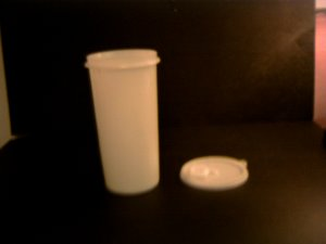 Tupperware -- Tall Round Juice Container - white *