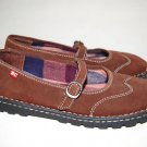 BC FOOTWEAR ballet flats MARY JANES shoes BROWN size 8