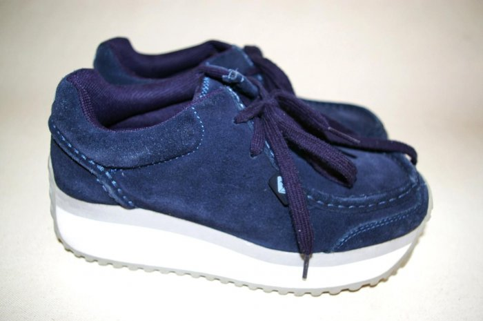 ROXY GYPSY platform shoes blue SUEDE women's Size 6 36
