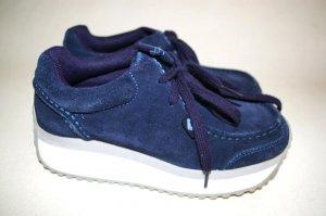ROXY GYPSY platform shoes blue SUEDE women's Size 6 36