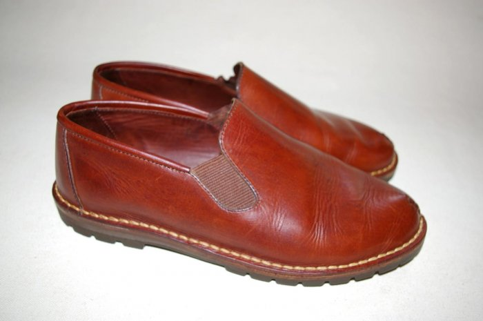 COLE HAAN womens mocs slides slip-on FLATS brown size 9