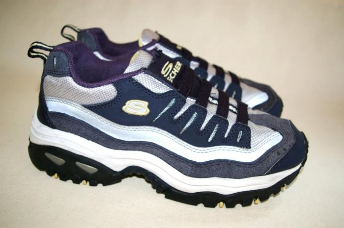 SKECHERS sketchers SPORT Womens BLUE Sneakers size 8 38